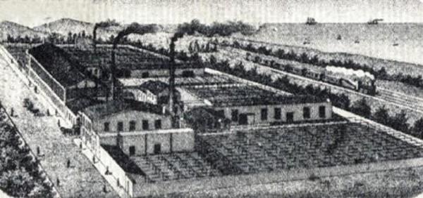 Gravat de la fàbrica Can Punti. Font: Fet al Poblenou, Arxiu Històric del Poblenou.