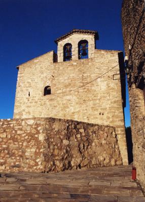 Imatge del campanar de l'església, Llaberia (Tivissa – Ribera d'Ebre) 2007. Autor: Jordi Contijoch Boada. Generalitat de Catalunya, Departament de Cultura.