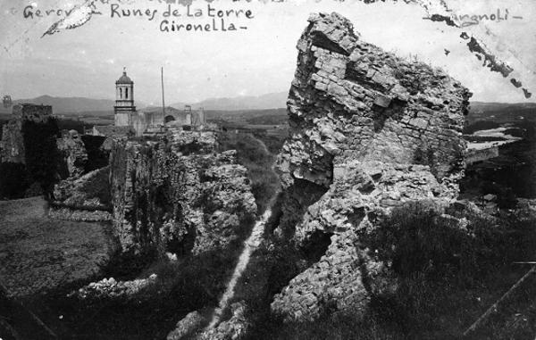 Restes de la Torre Gironella, Girona (Gironès) 1920-1930. Autor: Valentí Fargnoli Iannetta. Ajuntament de Girona.