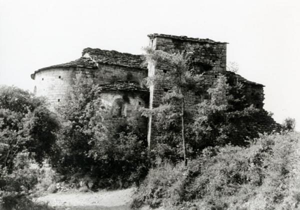 Imatge de l'església de Sant Maximí de Sallent, Coll de Nargó (Alt Urgell) 1985. Autor: A.Moras. Generalitat de Catalunya, Departament de Cultura. (http://invarquit.cultura.gencat.cat/)