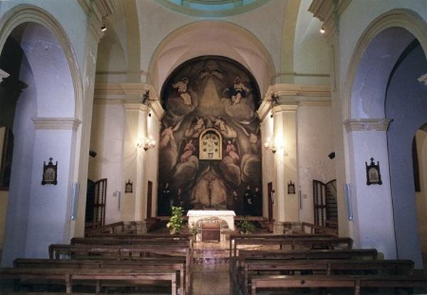 Vista interior de l'església de la Fontcalda, Pinell de Brai (Terra Alta) 2005. Autor: Joan Contijoch Boada. Generalitat de Catalunya, Departament de Cultura.