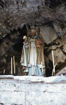 Imatge de Sant Marti a la capella del municipi de Gessa: 1982. Autor: Josep Santesmases i Ollé