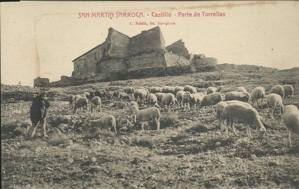 El castell a principis del segle XX en una postal de l'època.